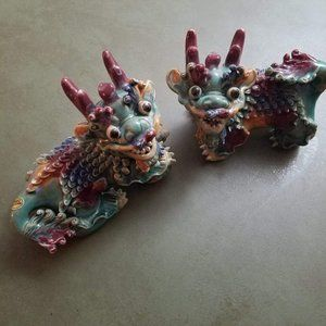 Dragon Ceramic Figurines